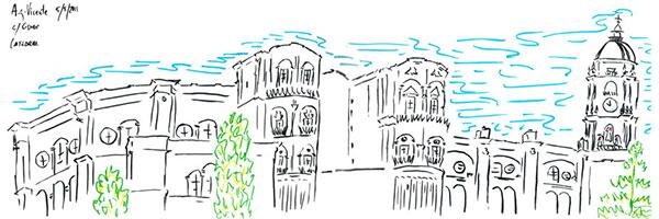 Malaga Cathedral sketch